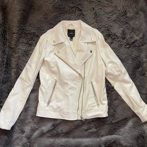 Forever 21 Faux Leather White Jacket